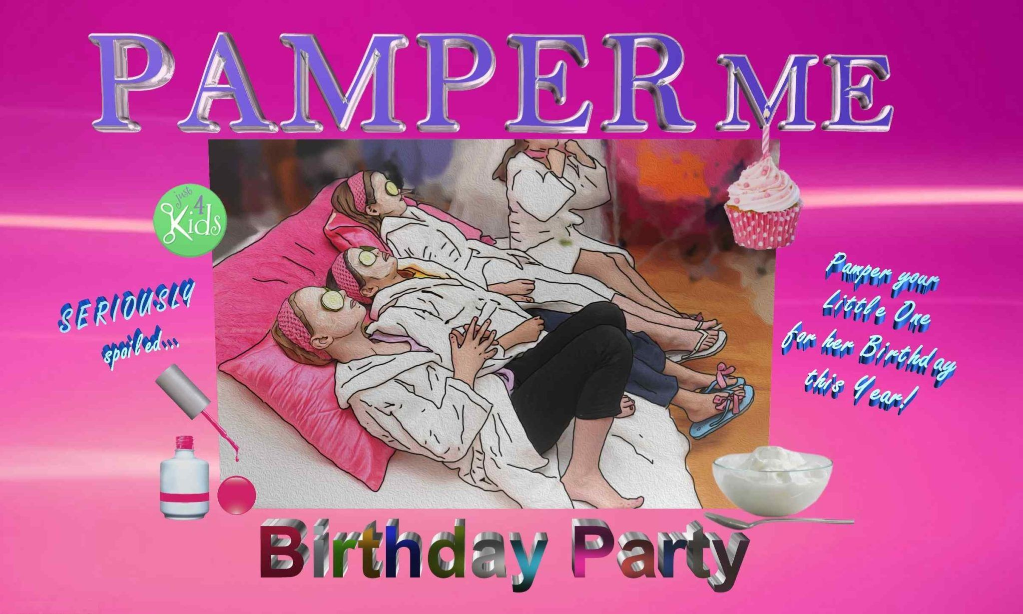 Pamper Me Spa Birthday Party Logo
