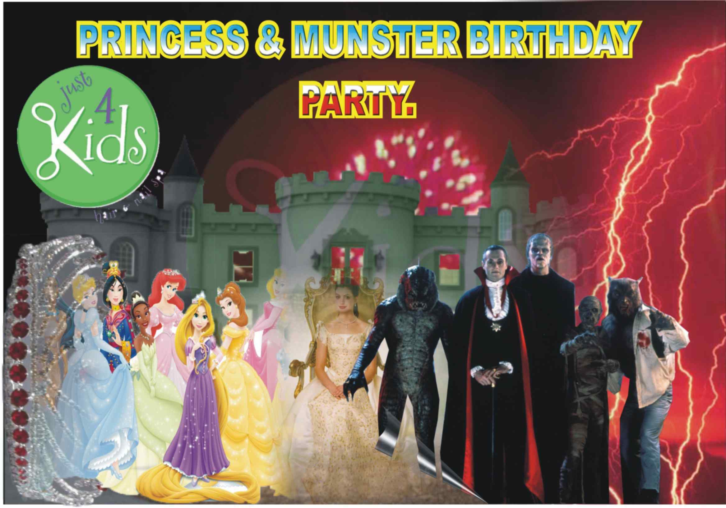 Princess and Munster Birthday Party