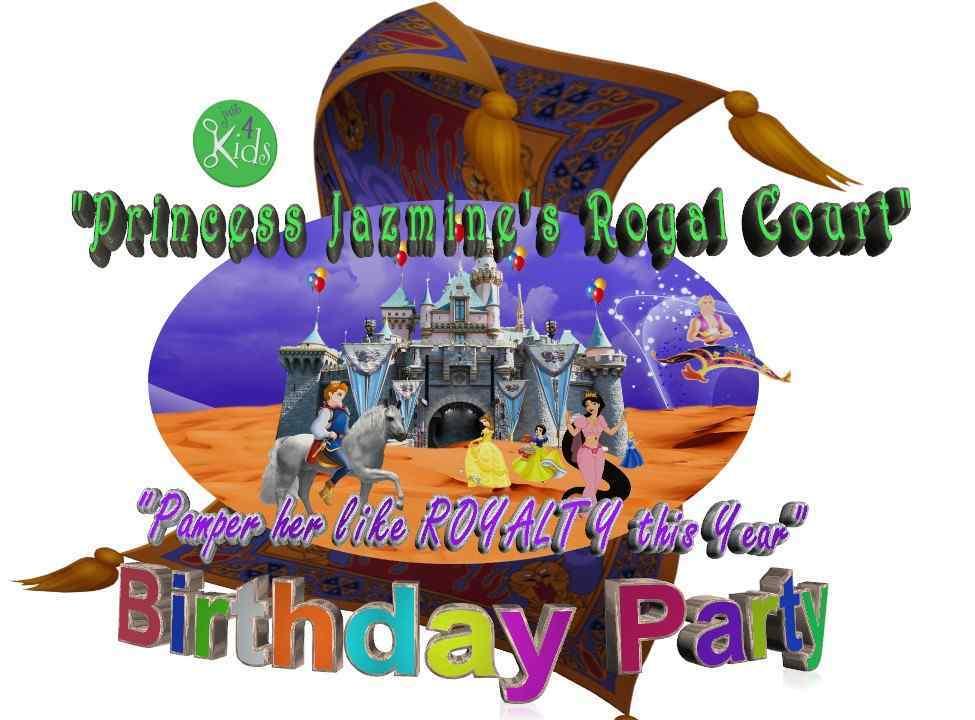 Princess Jazmines Royal Court Birthday Party