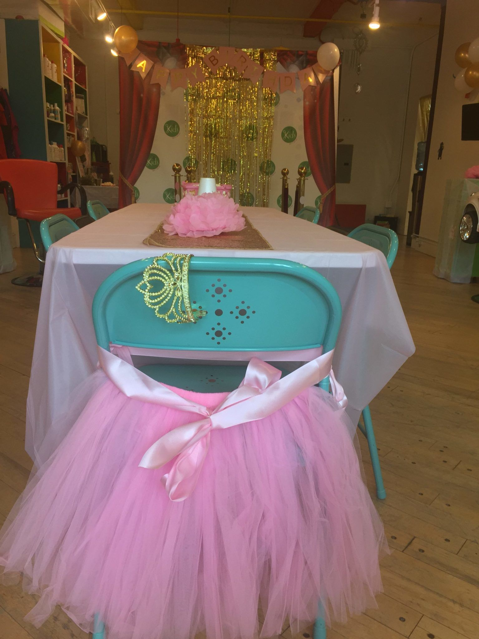Pamper Me Party Setup