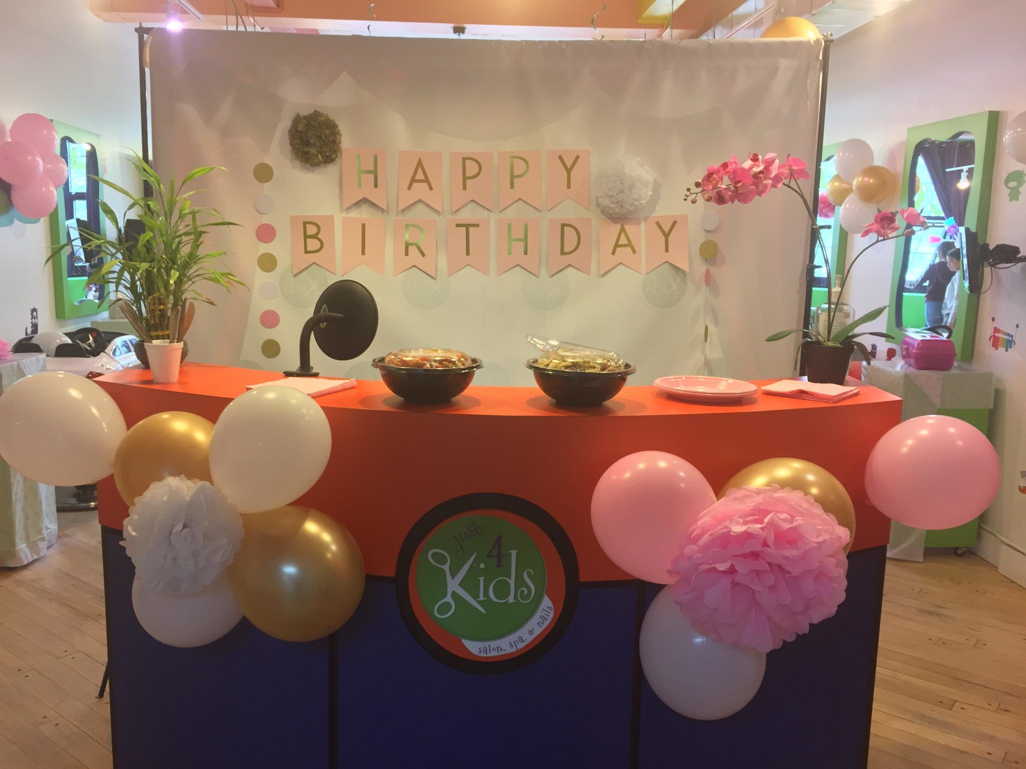 Pamper Me Kids Spa Birthday Party Reception Area